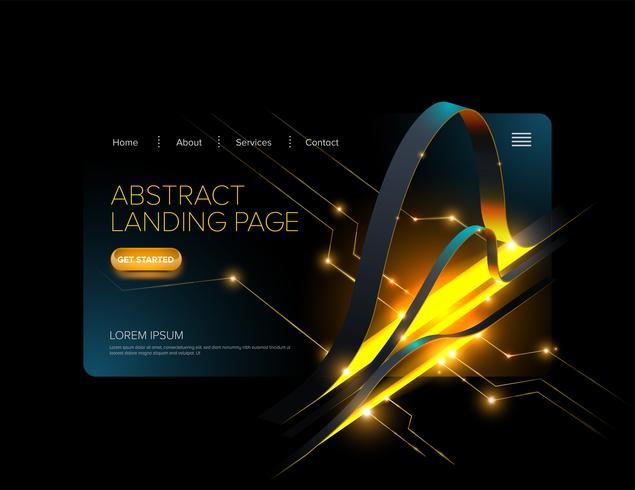 Diseño abstracto de la página de destino vector