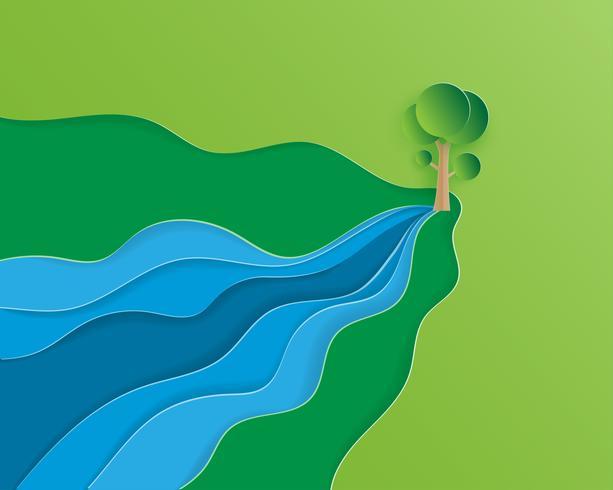 Ecología y conservación del medio ambiente. vector