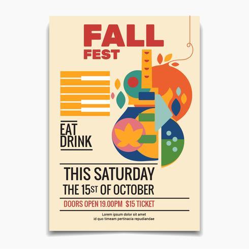 Fall Festival flyer  vector