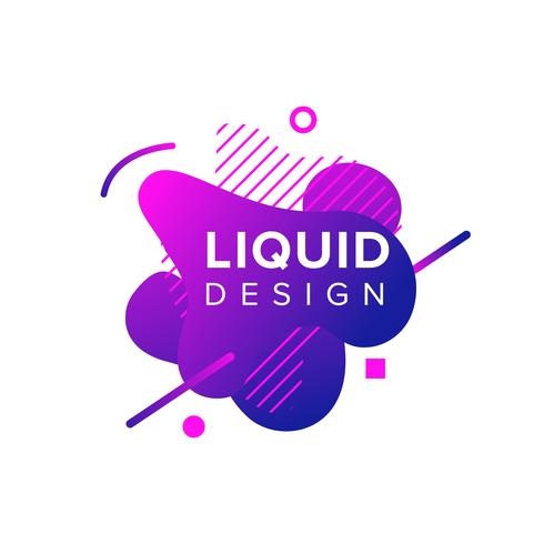 Color abstract liquid shapes