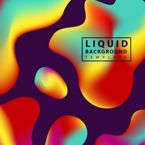 Colorful liquid shapes vector