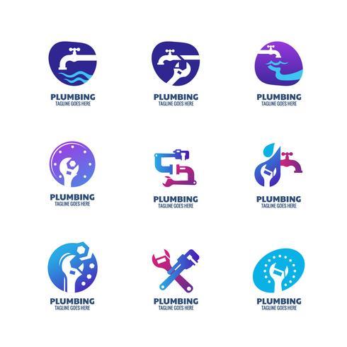 Moderne Sanitär-Icons
