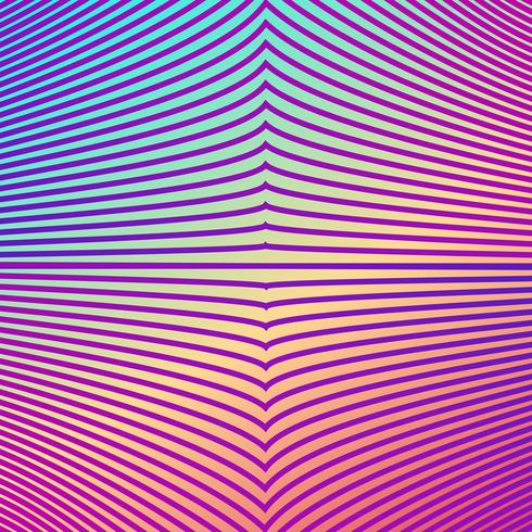 gradiente di colore brillante linea astratta pattern di sfondo vettore