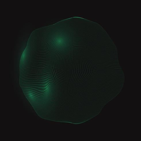 Fondo abstracto esfera