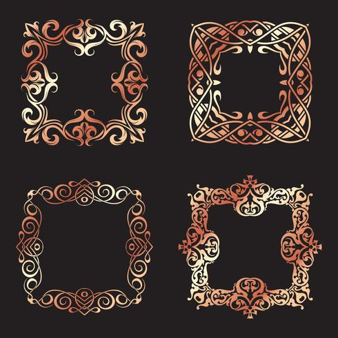 Collection of decorative square frames