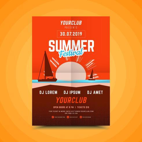 Manifesto verticale festa d'estate.