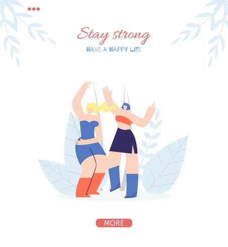 Stay Strong Motivation Banner