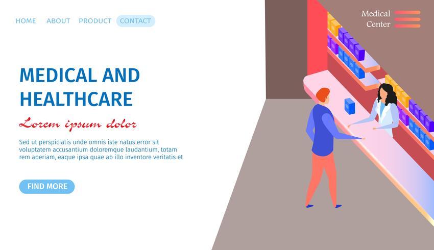 Medizin und Gesundheitswesen horizontale Banner