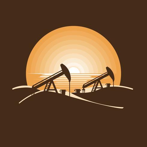 Bohrinseln und Ölpumpen