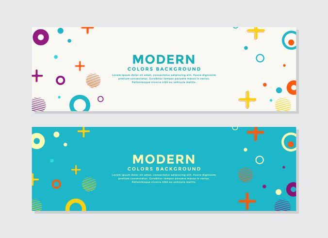 Set van moderne abstracte vorm banners