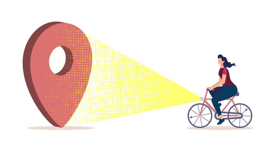Stadsnavigering för cyklister vektor