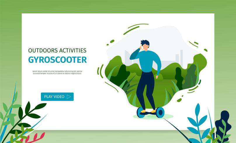 Riding a Gyroscooter Landing Page