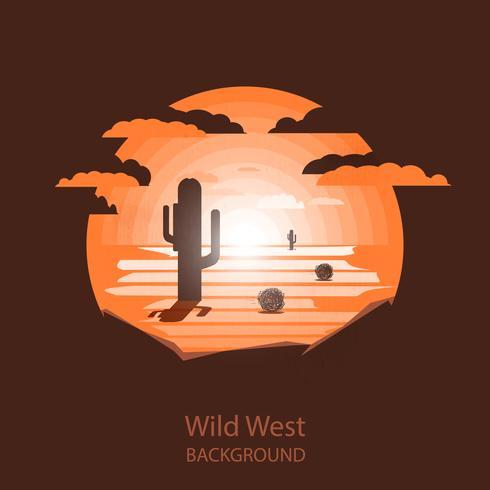 Wild west landscape vector