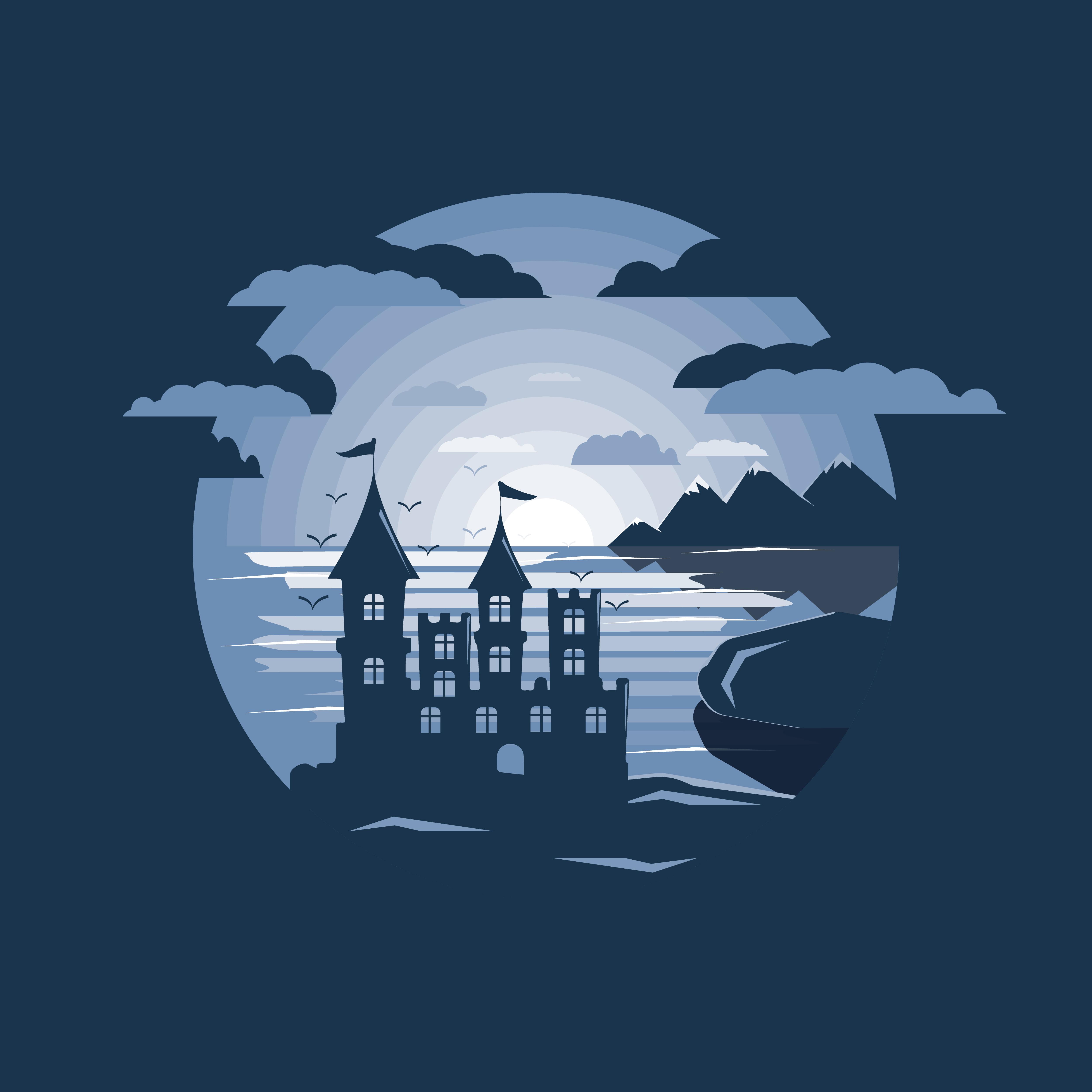 城堡剪影 免費下載   天天瘋後製