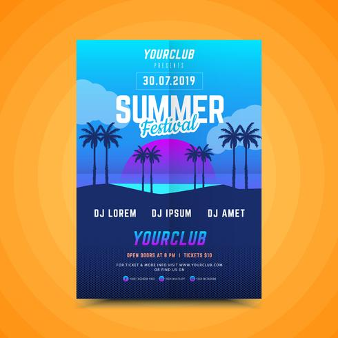 Sommer Sonnenuntergang Party Poster