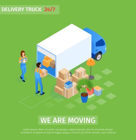 We verplaatsen bestelwagen vector