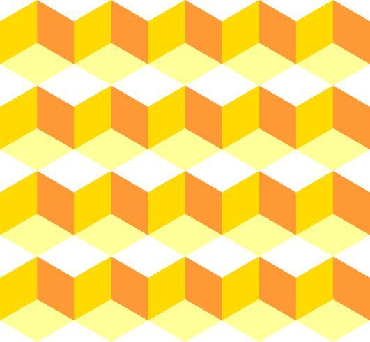 Diseño inconsútil del ejemplo del fondo del azulejo de la caja amarilla del modelo. Vector EPS 10.