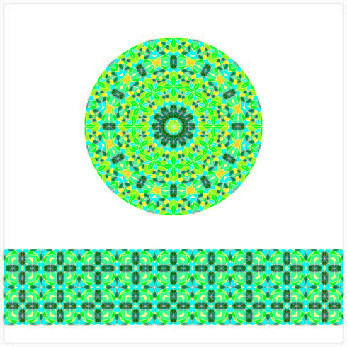 Round Geometric Seamless Pattern vector