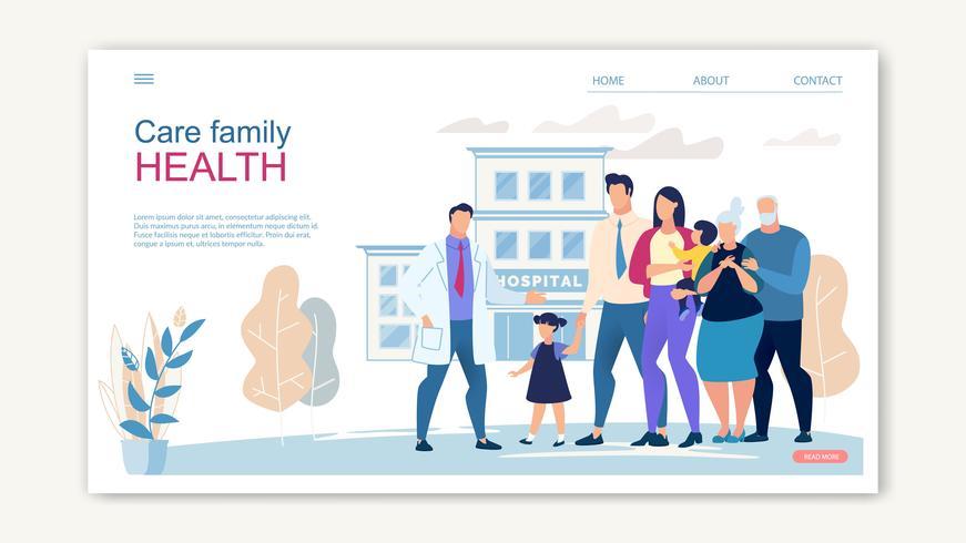 Website-Banner für Family Health Care