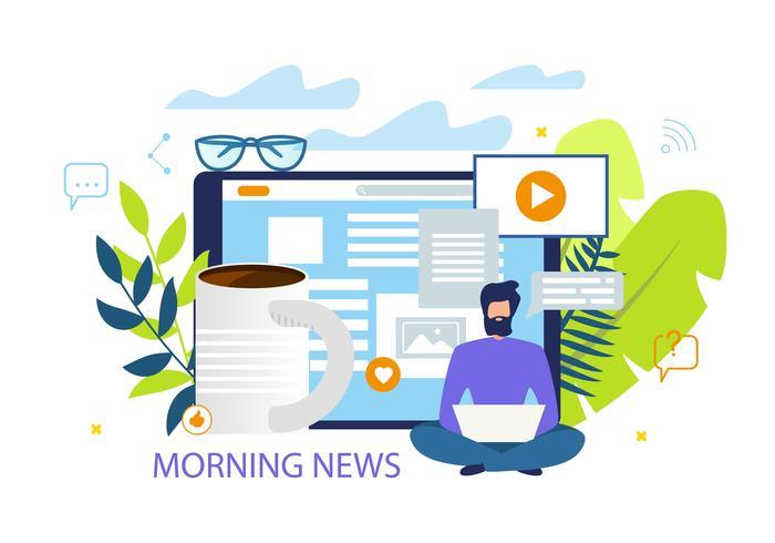Noticias de la mañana vector