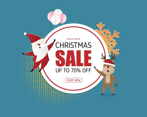 Christmas sale promotion banner