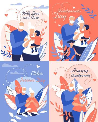 Grandparents Day Set vector