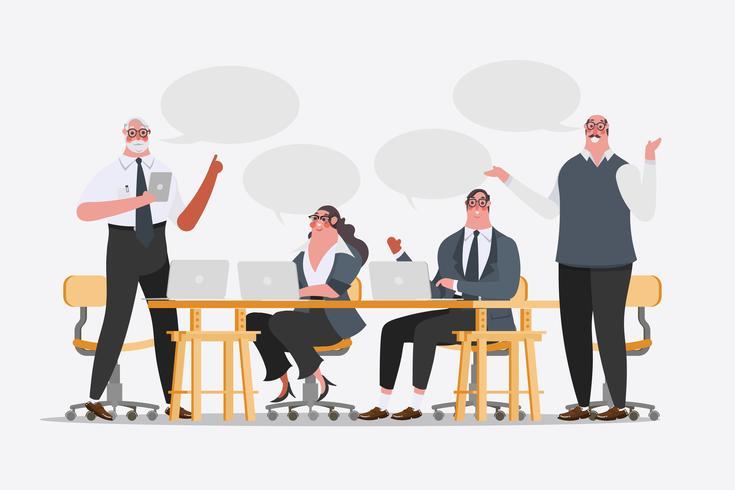 Design de personagens de equipe de negócios