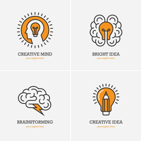 Kreative Ideen-Icon-Set