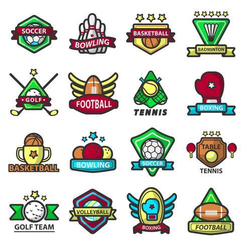 Sportspel ikoner mallar