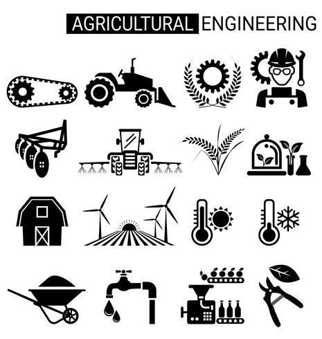 landbouwtechniek pictogram ontwerp voor de landbouw