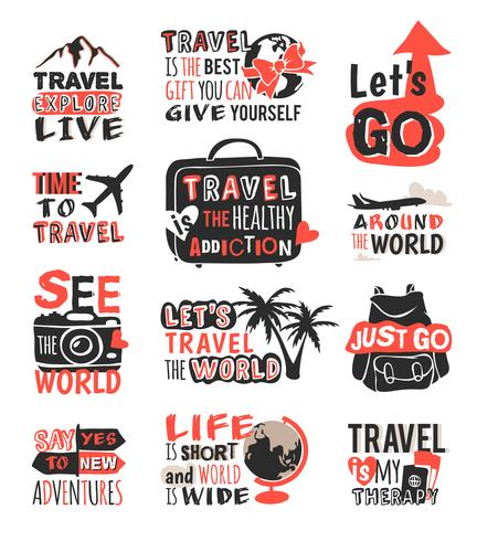Reisemotivation-Icon-Set