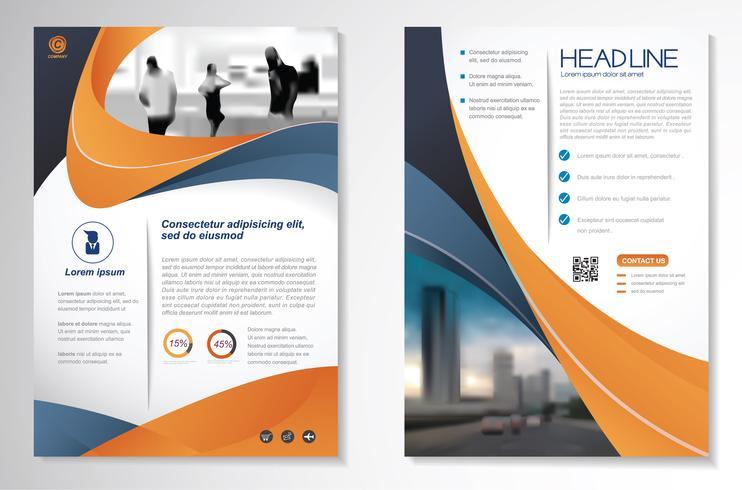 Modèle de conception pour le rapport annuel de la brochure