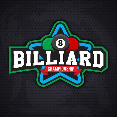 Emblema sportivo biliardo e snooker