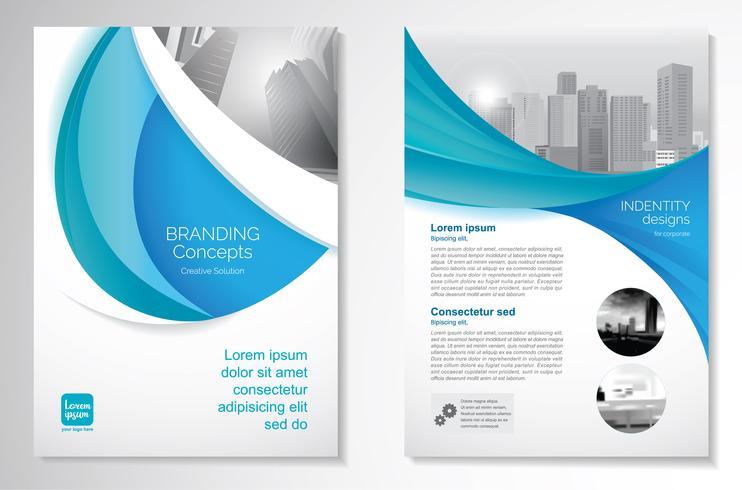 Template-Design für Broschüre Geschäftsbericht