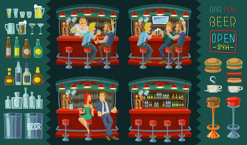 Friends drinking at a bar