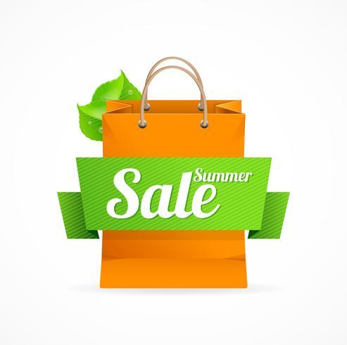 Sacola de compras com venda na faixa de opções