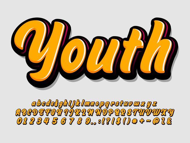 Modern alfabetstil