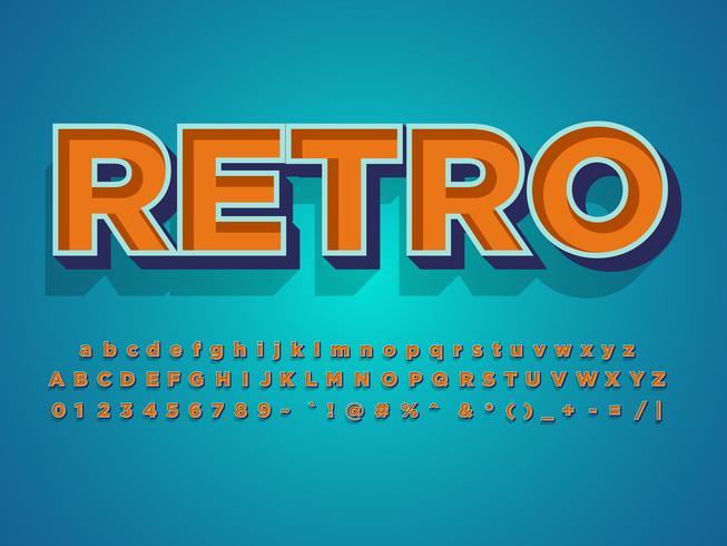 Retro alfabetstijl