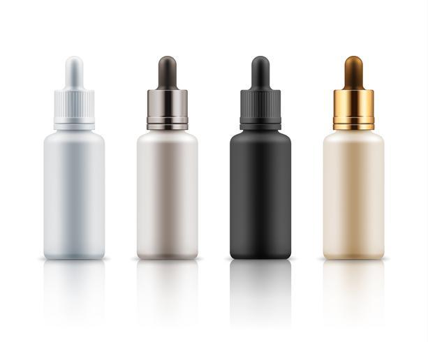 Cosmetische flesjes voor essentiële sjabloon
