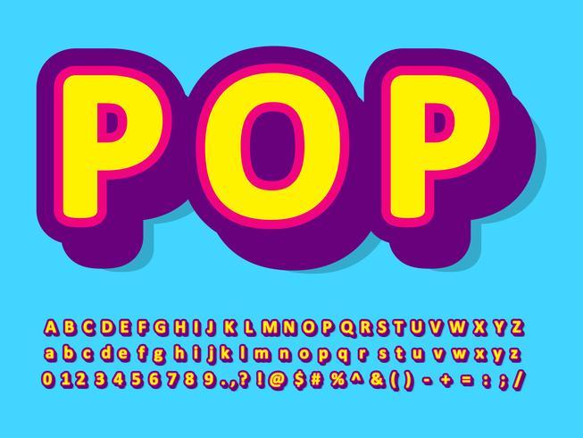 Pop art typsnitt stil