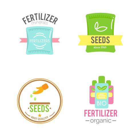 Insignias con fertilizantes
