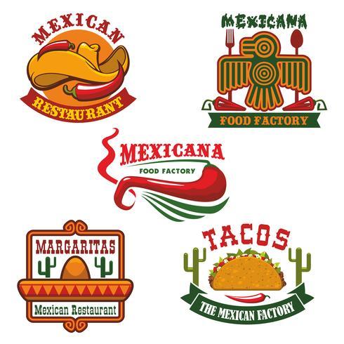 Design för emblem för mexikansk matrestaurang