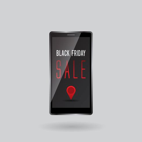 venta de viernes negro de pantalla de gadget móvil