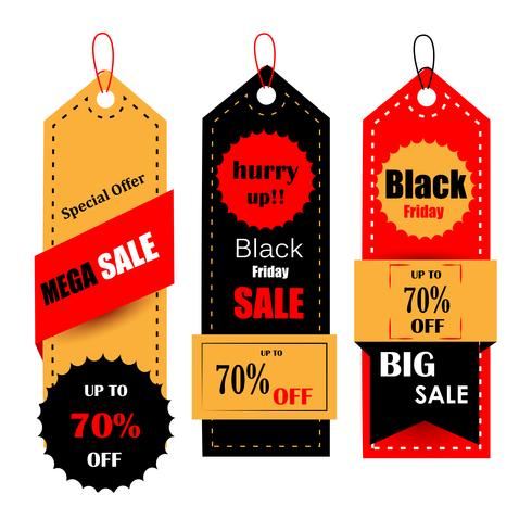 Banner de oferta de venta y promoción de Black Friday