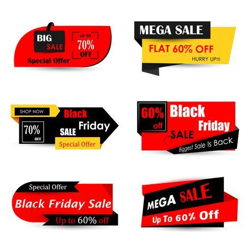Banner di offerta di vendita e promozione del Black Friday