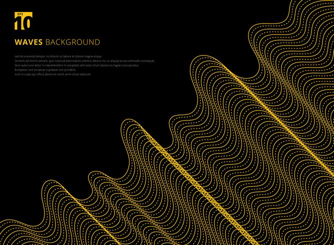 Abstract wavy line futuristic pattern vector