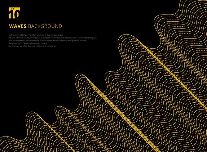 Padrão futurista abstrata linha ondulada