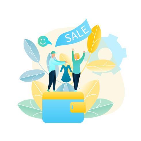 Online Dress Sale vector