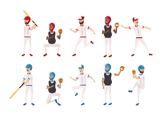 aantal professionele honkbalspelers vector