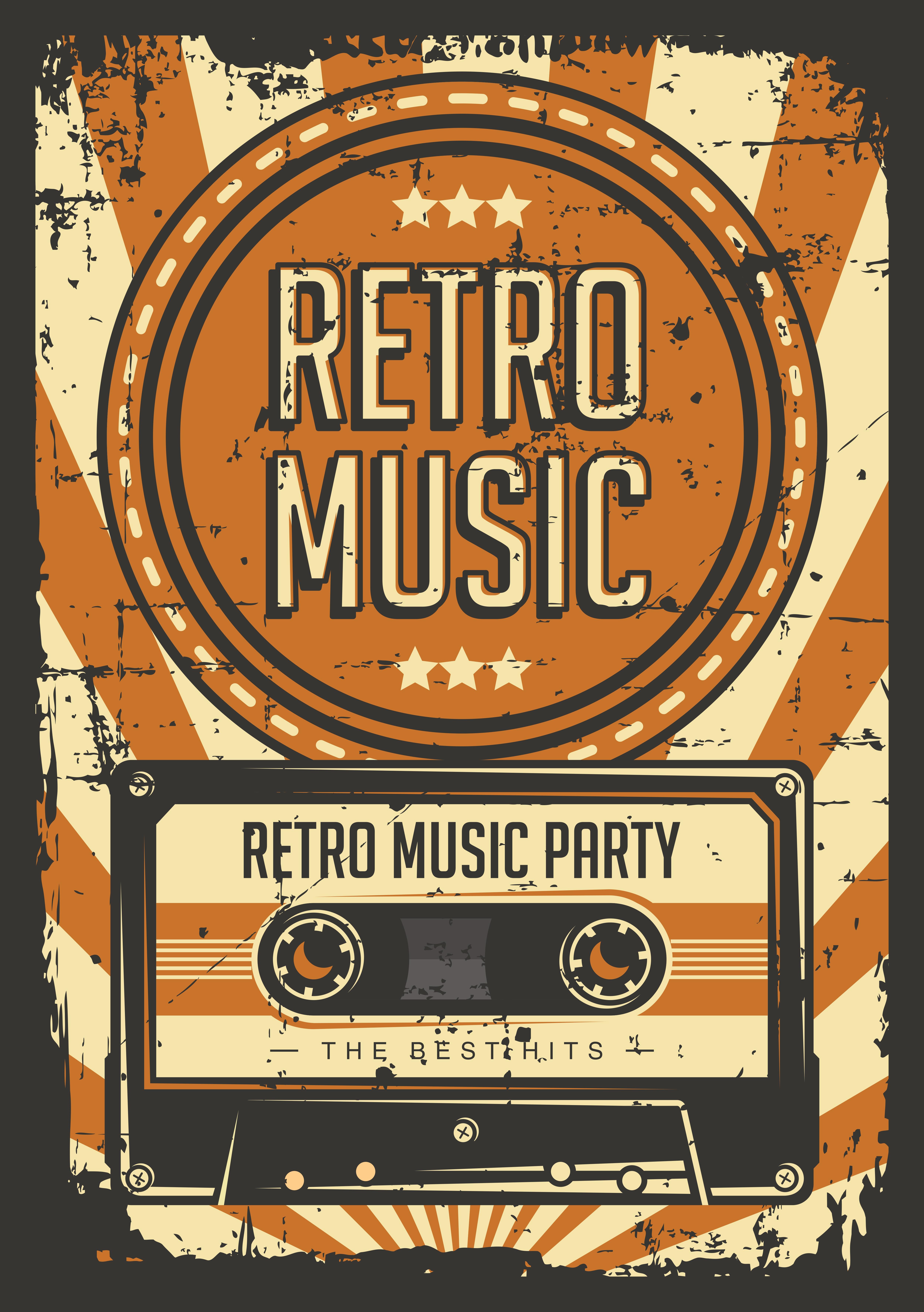 Retro Casette Tape Vintage Poster Download Free Vectors Clipart Graphics Vector Art